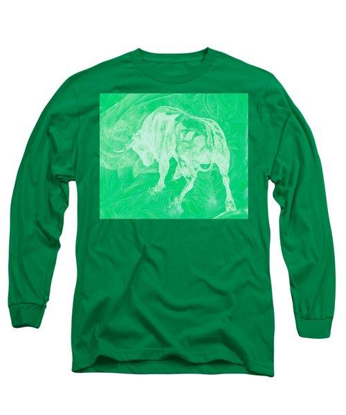 Green Bull Negative Long Sleeve T-Shirt