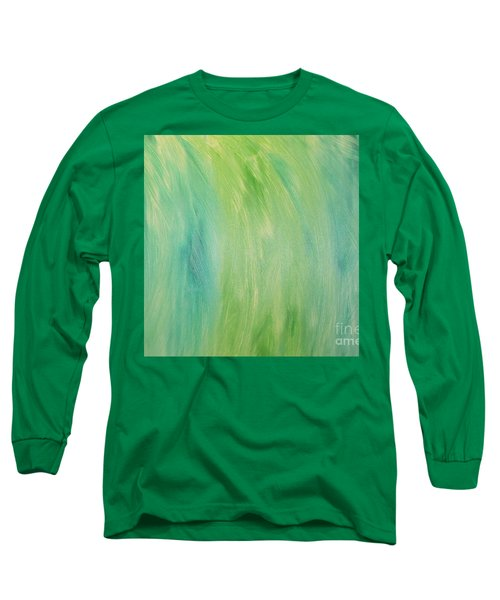 Green Shades Long Sleeve T-Shirt by Barbara Yearty