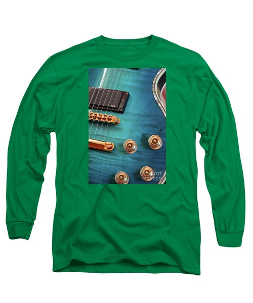Long Sleeve T-Shirt featuring the photograph Guitar Blues by Joy Watson