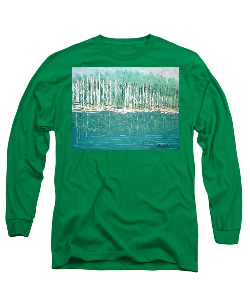 Harbor Shores Long Sleeve T-Shirt by George Riney