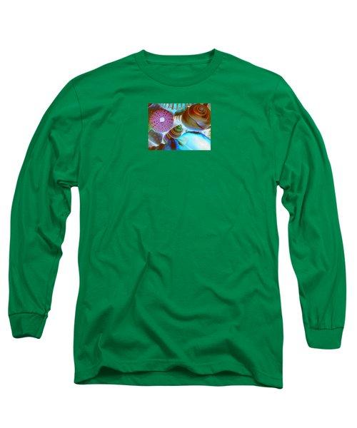 I Sell Seashells Down By The Seashore Long Sleeve T-Shirt by Janice Westerberg