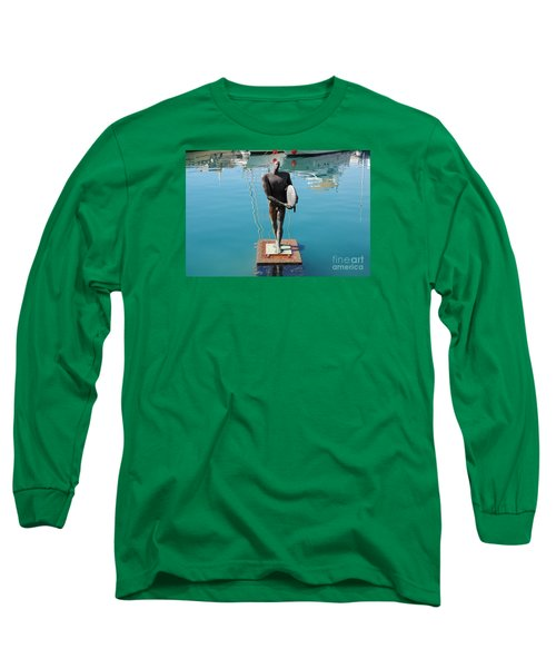 Icarus With His Surfboard Long Sleeve T-Shirt by Linda Prewer