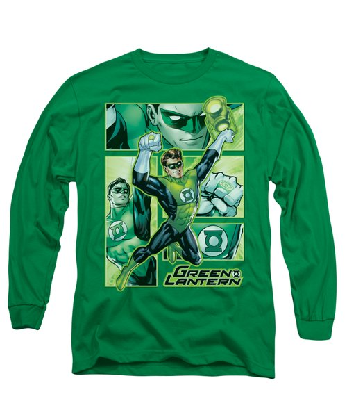 Jla - Green Lantern Panels Long Sleeve T-Shirt