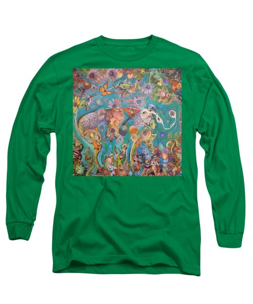 Jungledelphia Long Sleeve T-Shirt by Douglas Fromm