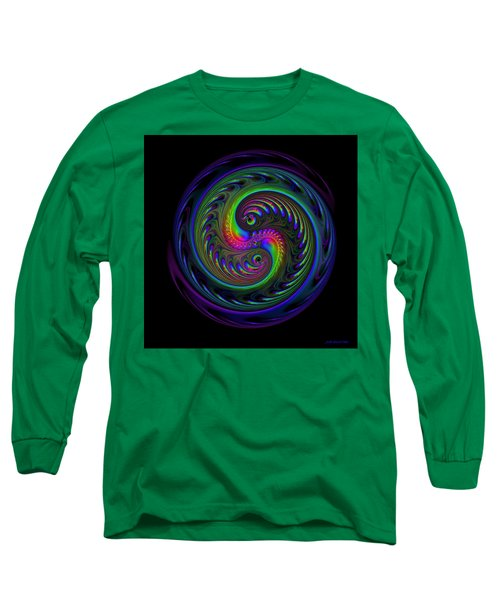Koi Yin Yang Long Sleeve T-Shirt by Judi Suni Hall