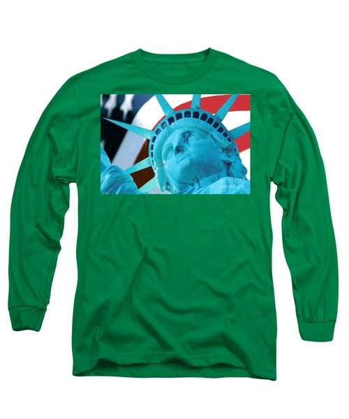 Lady Liberty  Long Sleeve T-Shirt by Jerry Fornarotto