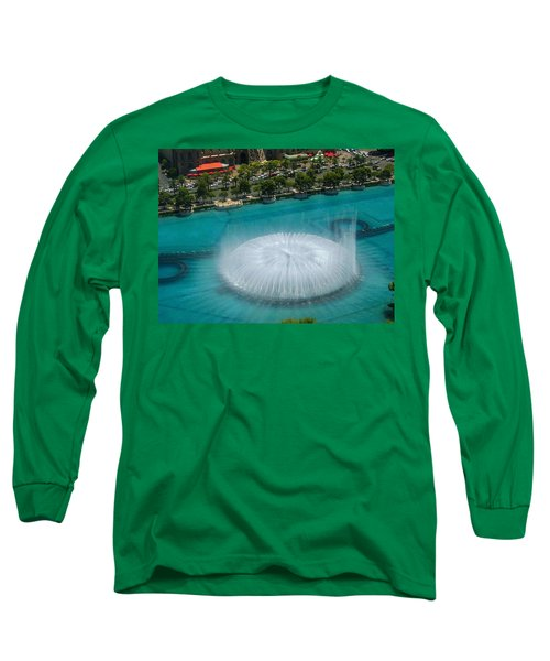 Long Sleeve T-Shirt featuring the photograph Las Vegas Orb by Angela J Wright