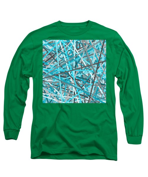 Link - Turquoise And Gray Abstract Long Sleeve T-Shirt