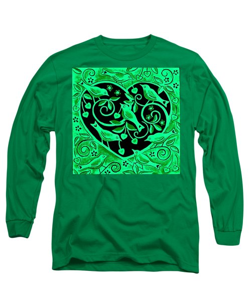 Love Birds, 2012 Woodcut Long Sleeve T-Shirt