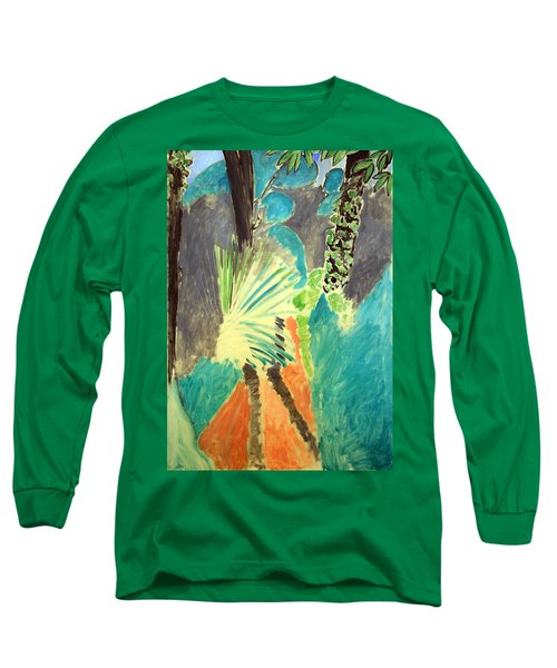 Matisse's Palm Leaf In Tangier Long Sleeve T-Shirt by Cora Wandel