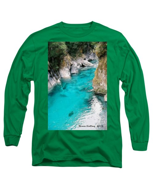 Long Sleeve T-Shirt featuring the painting Mountain Pool by Bruce Nutting