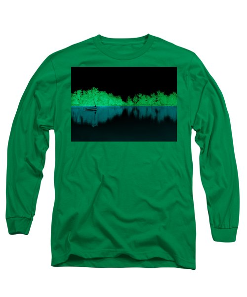 Long Sleeve T-Shirt featuring the digital art Night Boat by Bliss Of Art