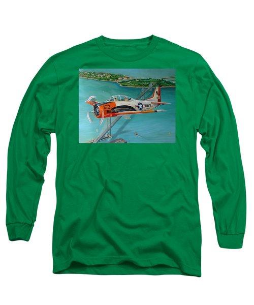 North American T-28 Trainer Long Sleeve T-Shirt by Stuart Swartz