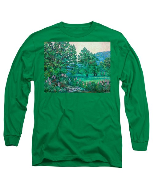 Long Sleeve T-Shirt featuring the painting Park Road In Radford by Kendall Kessler