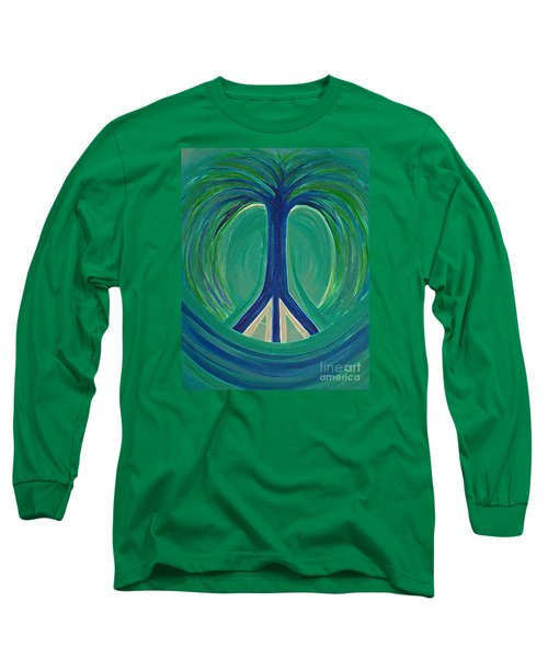 Peace Tree By Jrr Long Sleeve T-Shirt by First Star Art