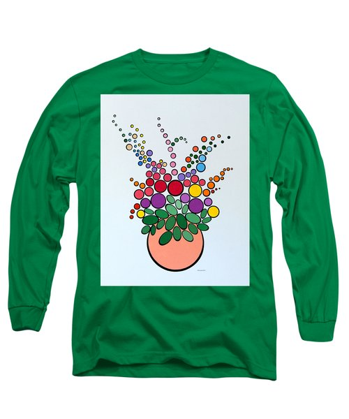 Potted Blooms - Orange Long Sleeve T-Shirt
