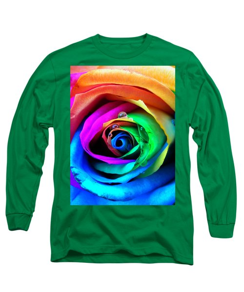 Rainbow Rose Long Sleeve T-Shirt