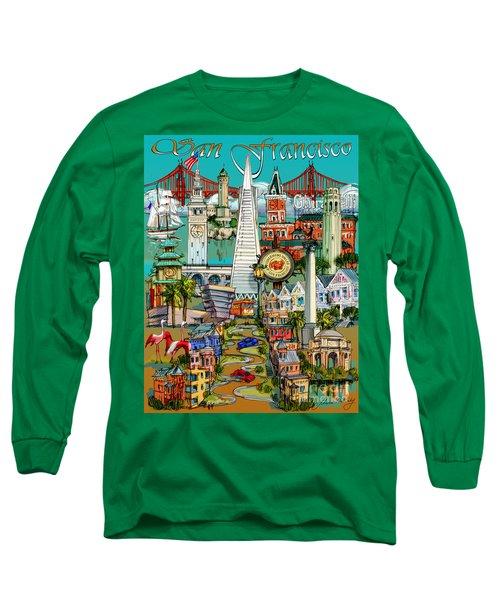 San Francisco Illustration Long Sleeve T-Shirt