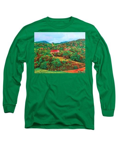 Scene From Mahogony Bay Honduras Long Sleeve T-Shirt