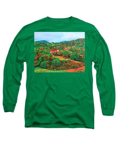 Scene From Mahogony Bay Honduras Long Sleeve T-Shirt