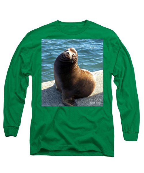 Long Sleeve T-Shirt featuring the photograph Sea Lion Basking In The Sun by Chalet Roome-Rigdon