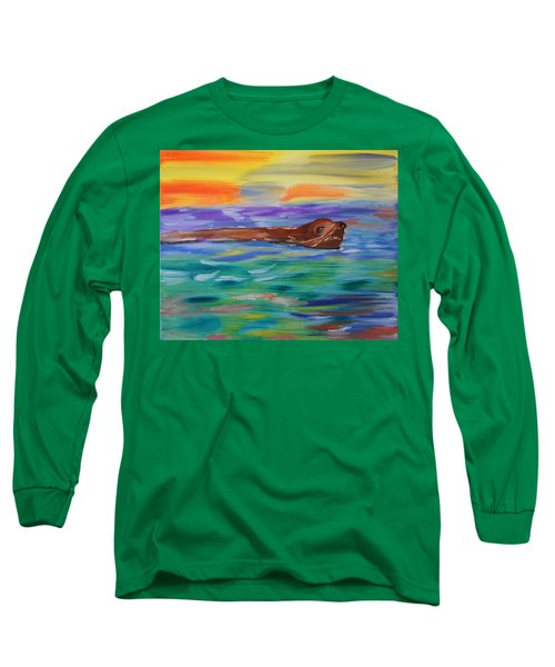 Sunny Sea Lion Long Sleeve T-Shirt by Meryl Goudey