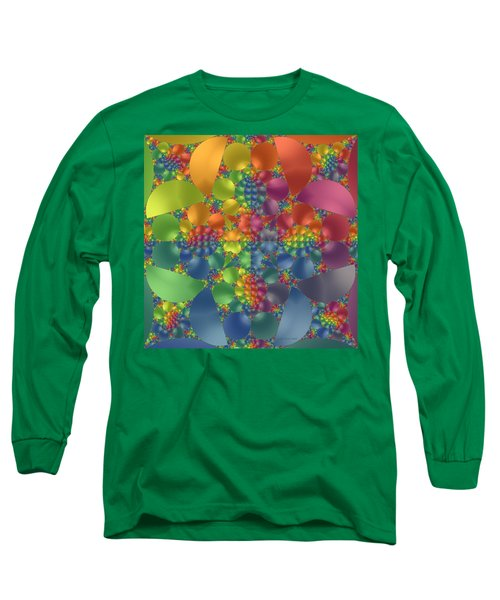 Long Sleeve T-Shirt featuring the digital art Spring Promises Fractal by Judi Suni Hall