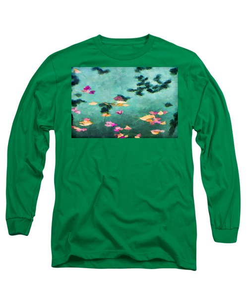 Swirling Leaves And Petals 6 Long Sleeve T-Shirt