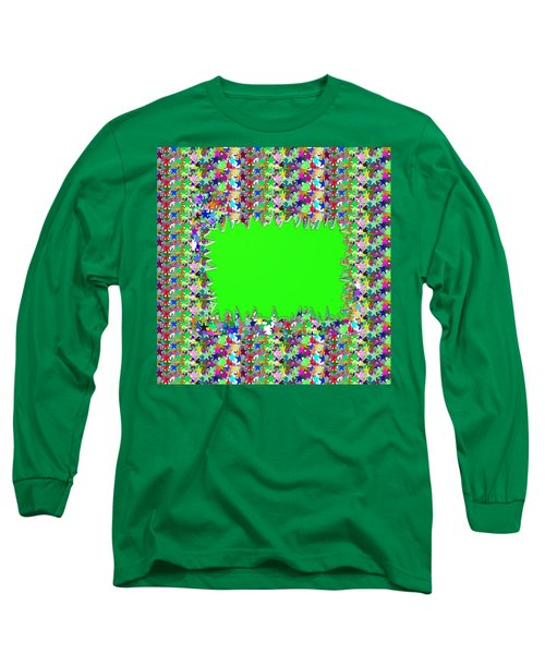 Long Sleeve T-Shirt featuring the photograph Template Art Star Sparkle And Empty Box To Add Your Image Or Text by Navin Joshi