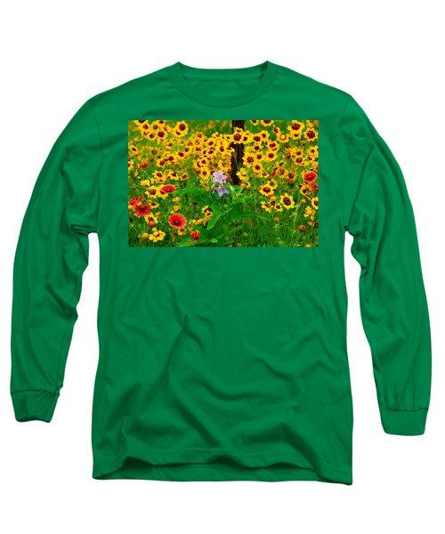 Texas Spring Delight Long Sleeve T-Shirt by Lynn Bauer
