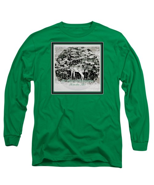 The Magic Of Christmastime In A Woodland Long Sleeve T-Shirt by Kimberlee Baxter