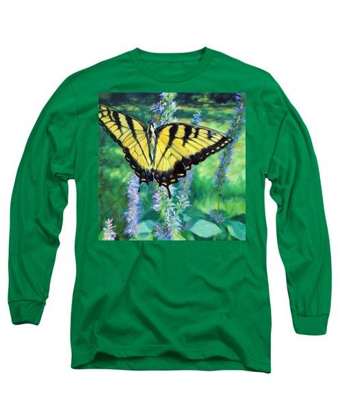 Tiger Swallowtail- Enjoying The Sweetness Long Sleeve T-Shirt
