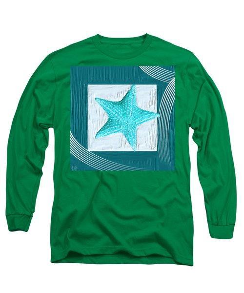 Turquoise Seashells Xviii Long Sleeve T-Shirt