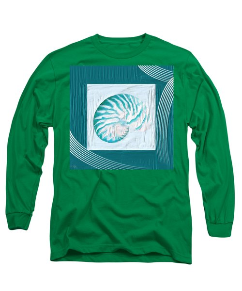 Turquoise Seashells Xxi Long Sleeve T-Shirt