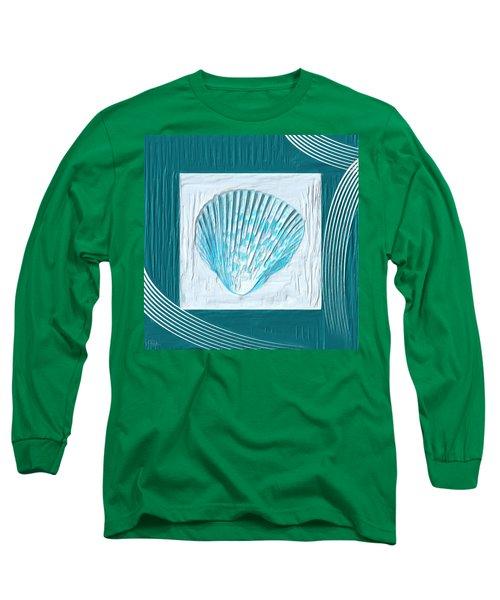 Turquoise Seashells Xxiii Long Sleeve T-Shirt