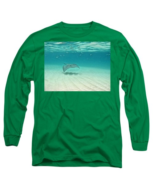 Underwater Flight Long Sleeve T-Shirt by Peggy Hughes