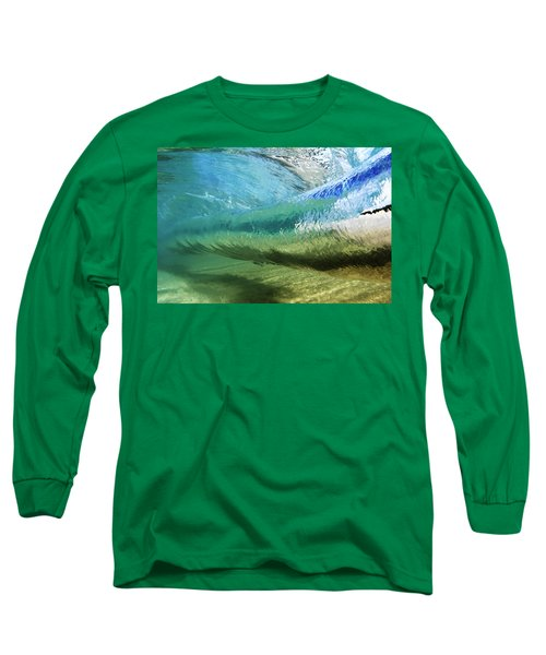 Underwater Wave Curl Long Sleeve T-Shirt by Vince Cavataio - Printscapes