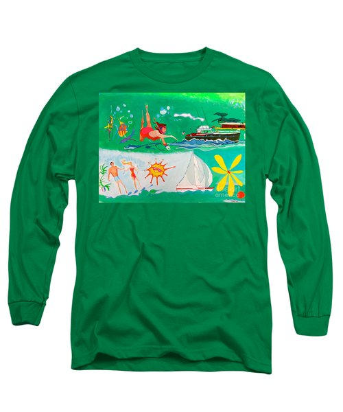 Vacation All I Ever Wanted Long Sleeve T-Shirt by Beth Saffer