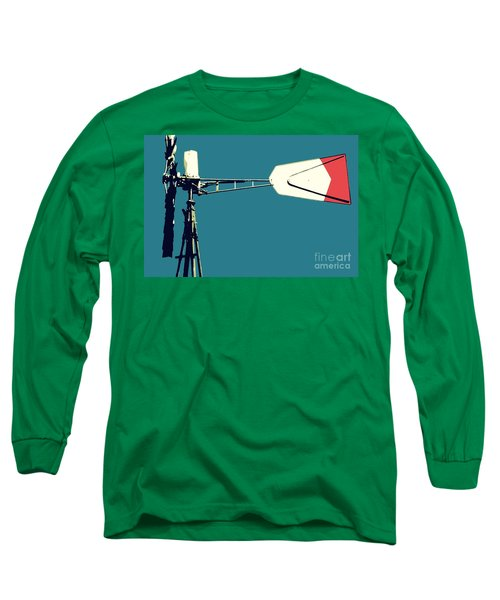Windmill 2 Long Sleeve T-Shirt by Valerie Reeves