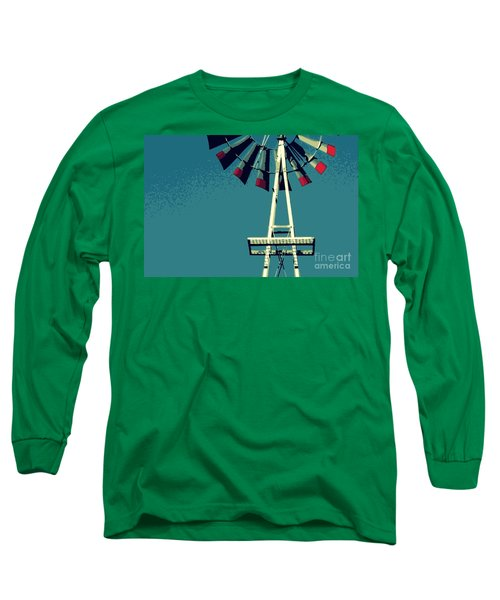 Windmill Long Sleeve T-Shirt by Valerie Reeves