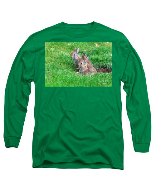 Young Rabbits Long Sleeve T-Shirt by Nick  Biemans