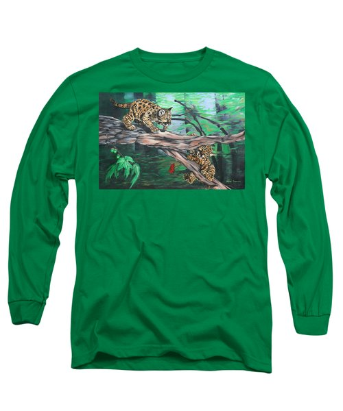 Cubs At Play Long Sleeve T-Shirt by Wendy Shoults