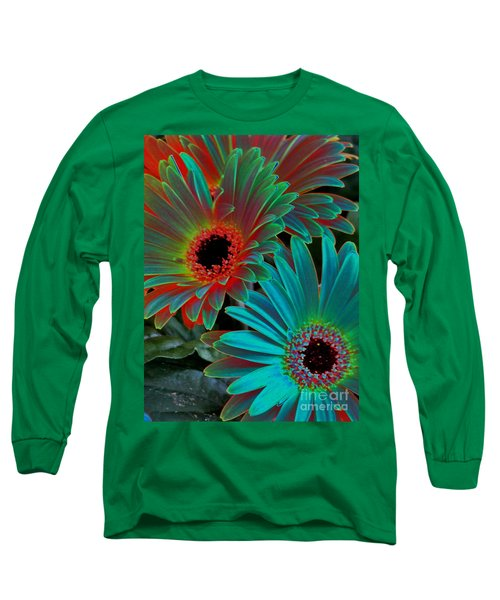 Daisies From Another Dimension Long Sleeve T-Shirt by Rory Sagner