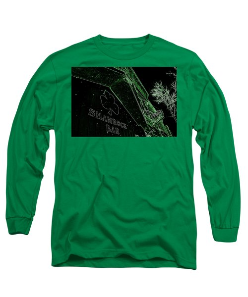 Long Sleeve T-Shirt featuring the photograph Green Night by Zafer Gurel