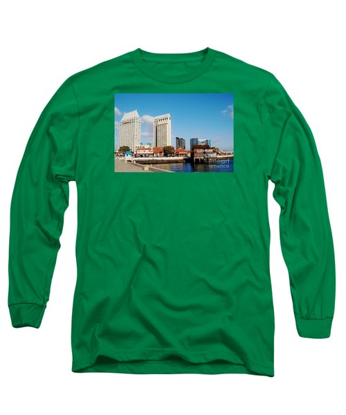Long Sleeve T-Shirt featuring the photograph San Diego - Seaport Village by Jasna Gopic
