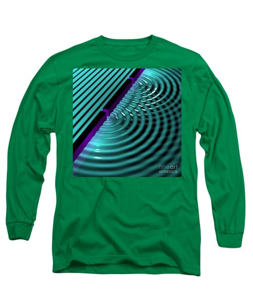 Waves Two Slit 3 Long Sleeve T-Shirt