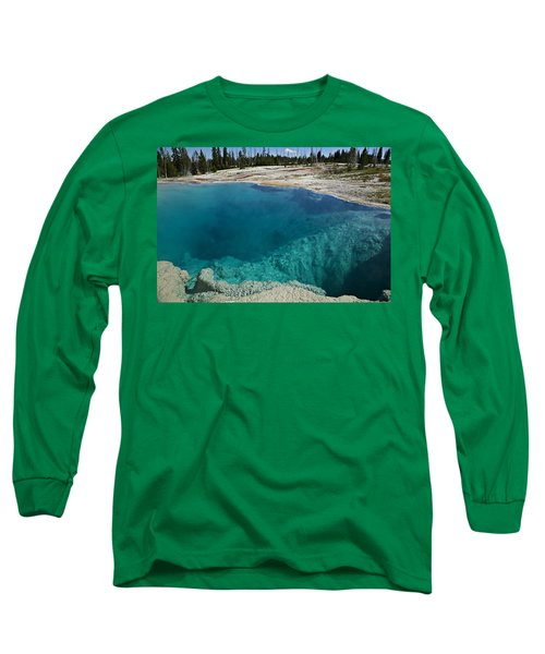 Turquoise Hot Springs Yellowstone Long Sleeve T-Shirt