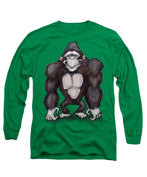 Gorilla Long Sleeve T-Shirt by Kevin Middleton