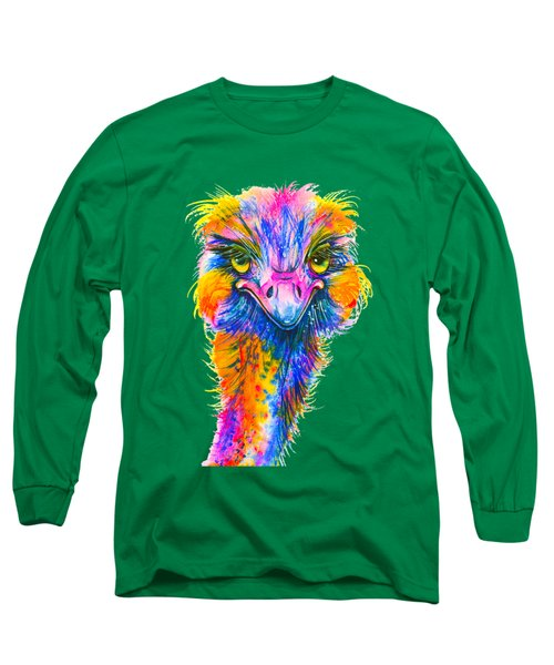 Rainbow Ostrich  Long Sleeve T-Shirt