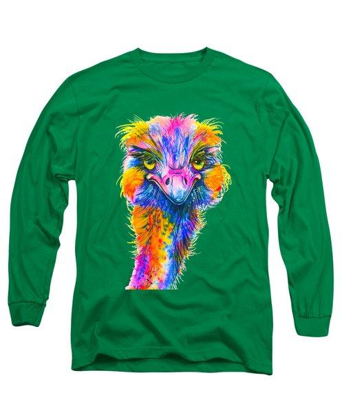 Rainbow Ostrich  Long Sleeve T-Shirt